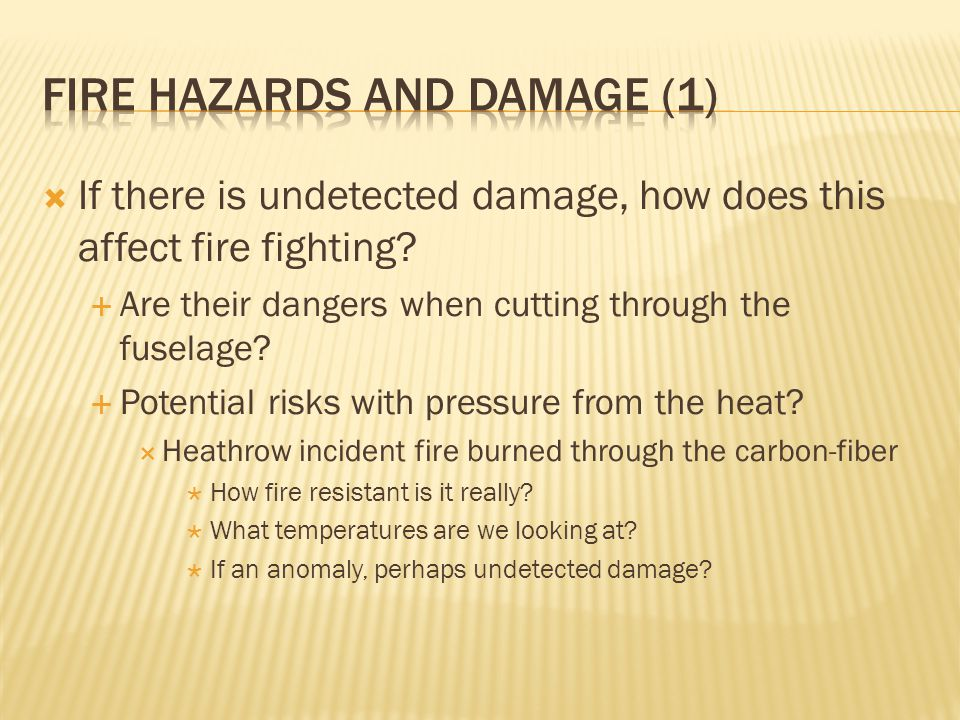 Fire hazards and damage (1)