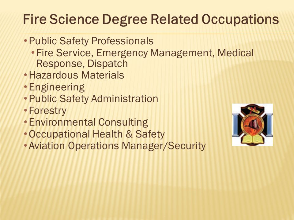 Fire Science Degree Related Occupations