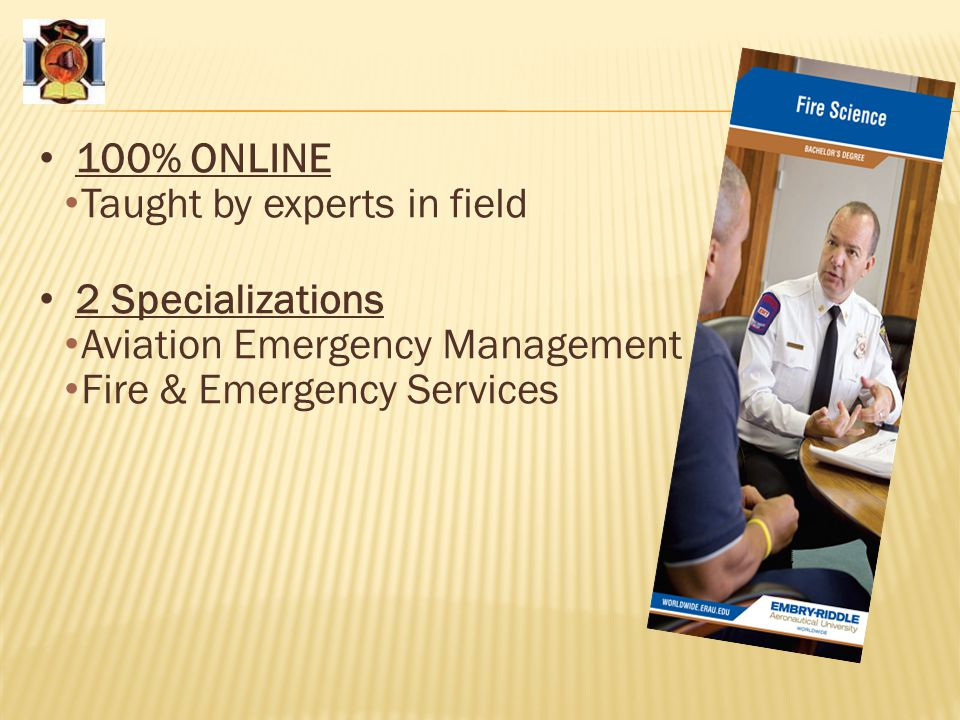 100% ONLINE Taught by experts in field. 2 Specializations.