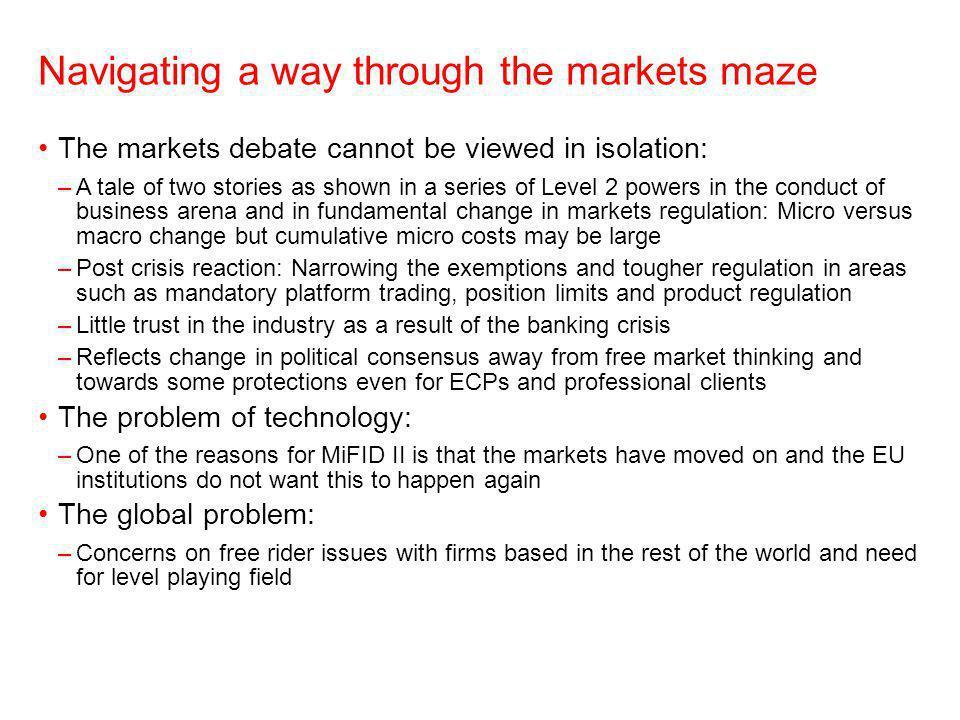 Navigating a way through the markets maze