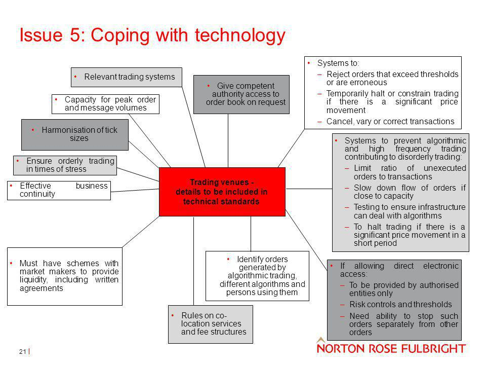 Issue 5: Coping with technology