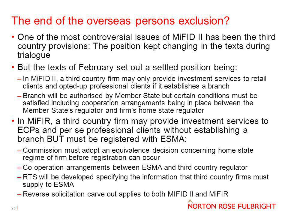 The end of the overseas persons exclusion
