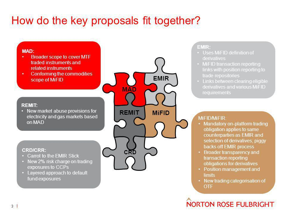 How do the key proposals fit together