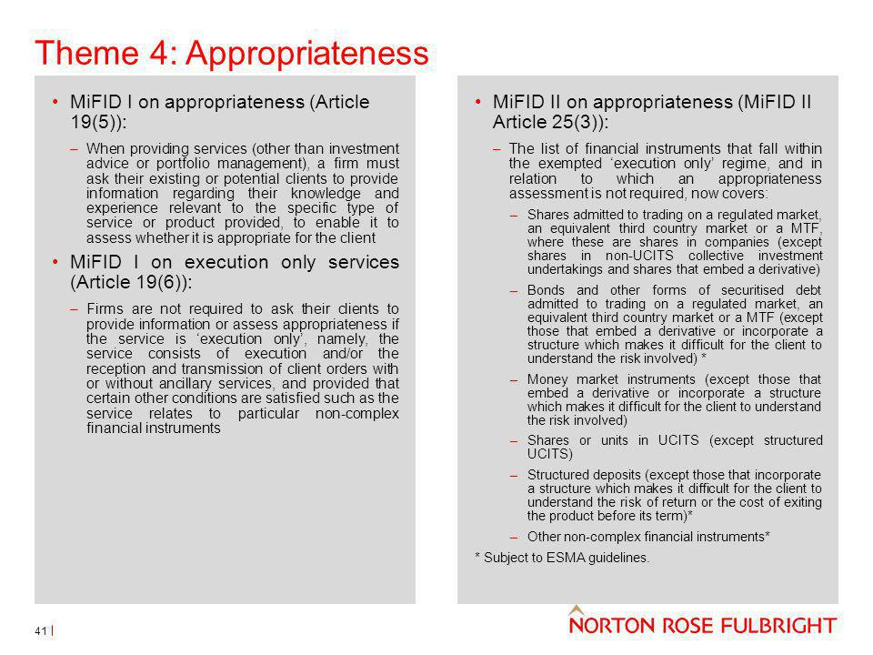 Theme 4: Appropriateness