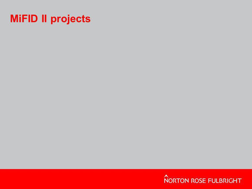 MiFID II projects