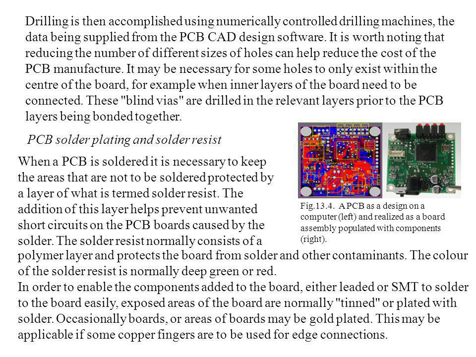 PCB solder plating and solder resist