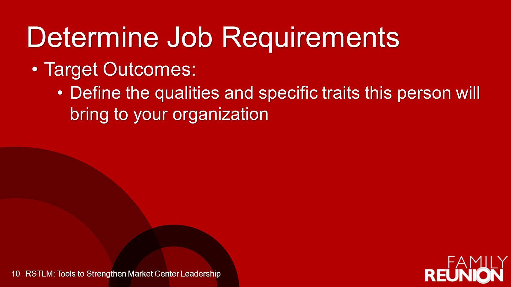 Determine Job Requirements