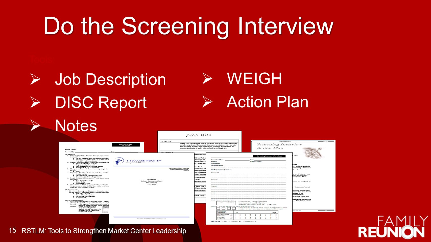 Do the Screening Interview