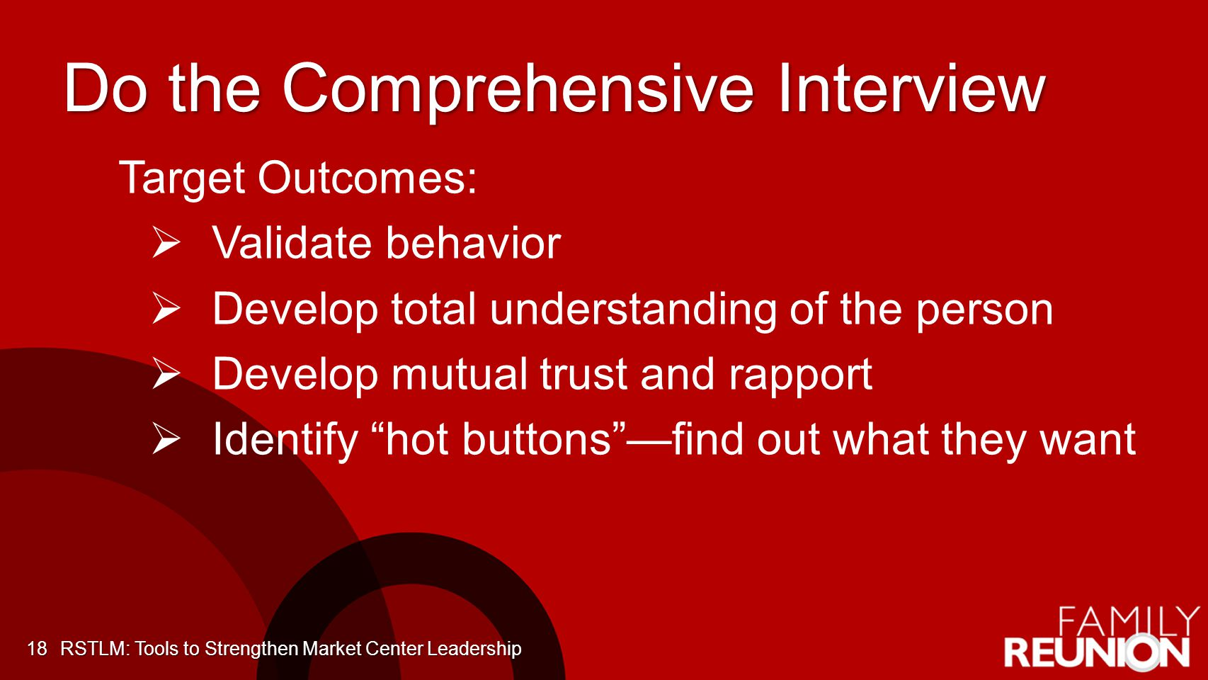Do the Comprehensive Interview