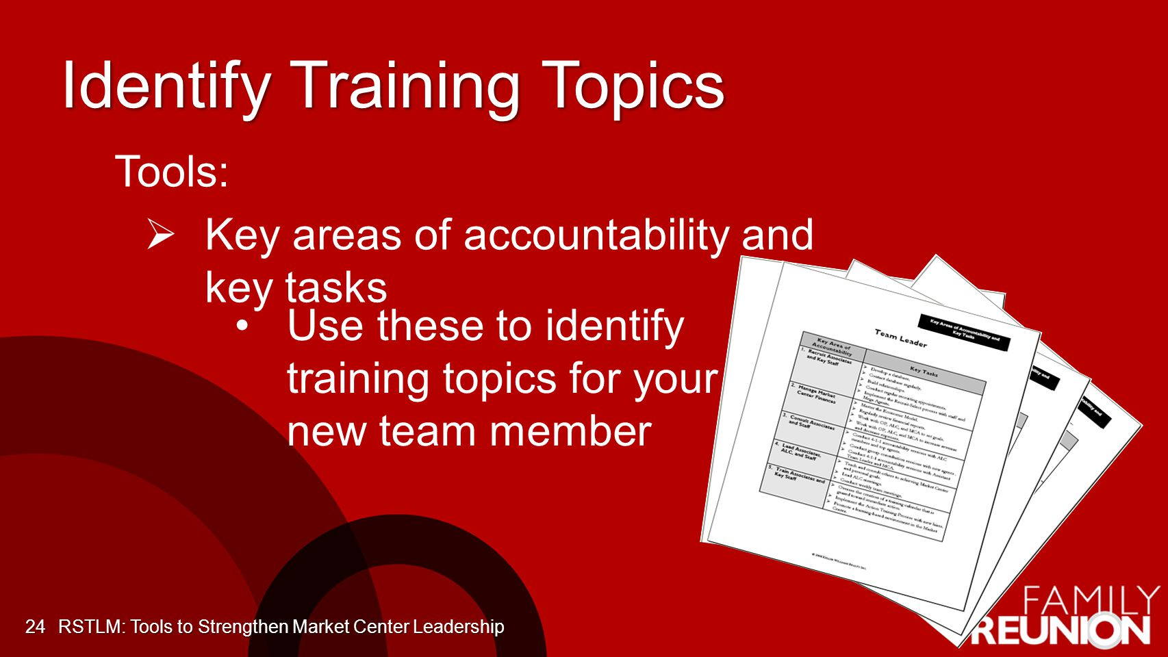 Identify Training Topics