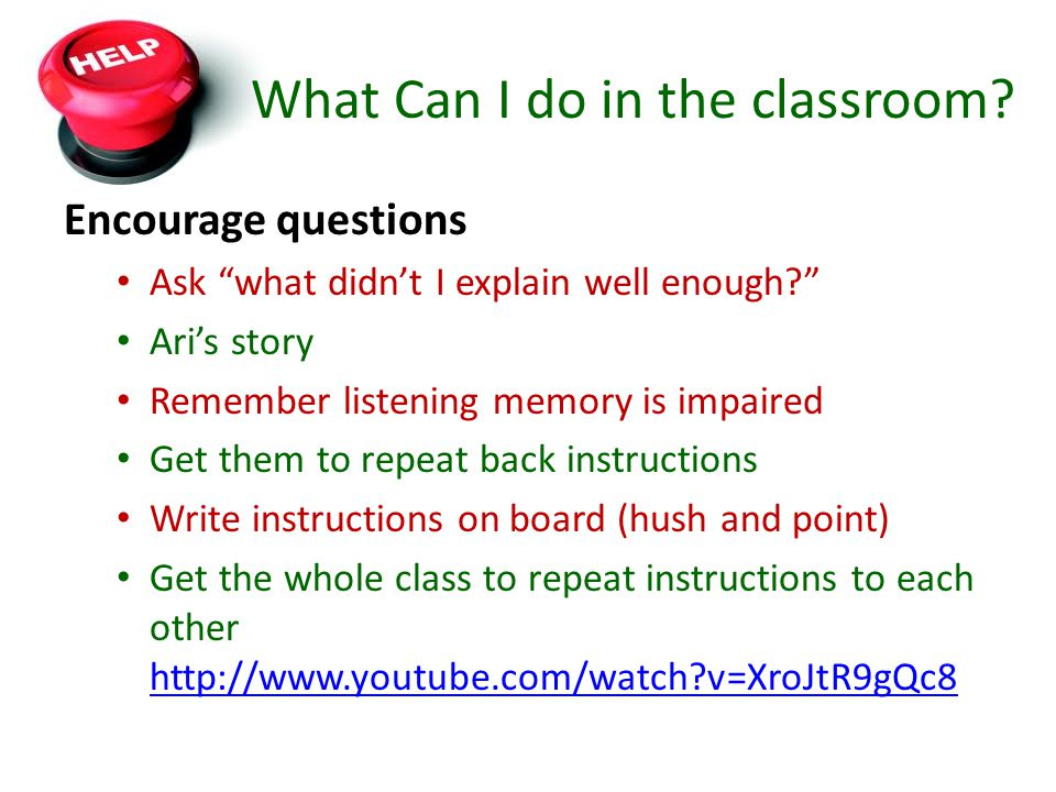 What Can I do in the classroom