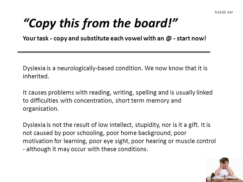 Copy this from the board!