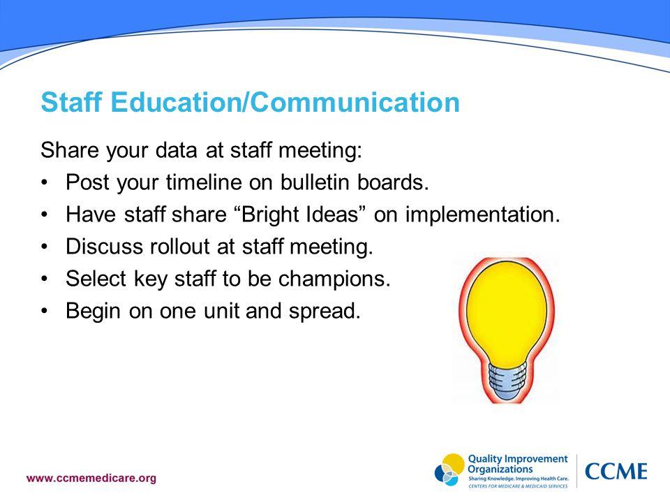 Staff Education/Communication