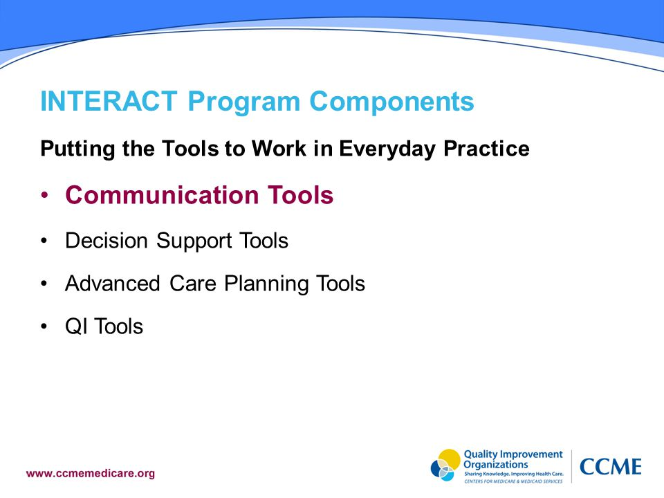 INTERACT Program Components