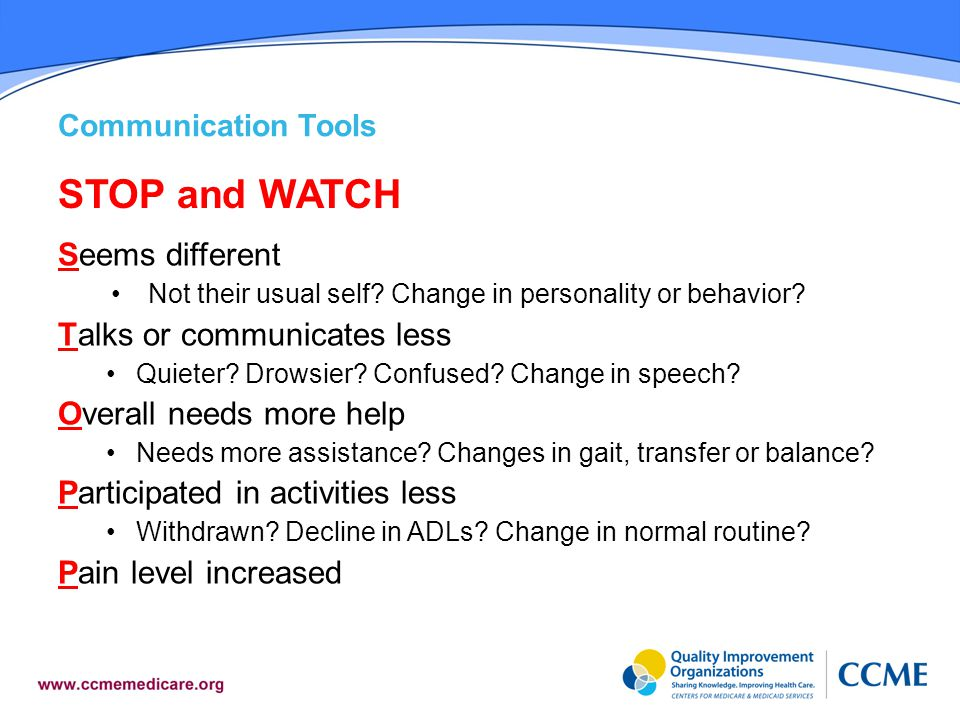 STOP and WATCH Seems different Talks or communicates less
