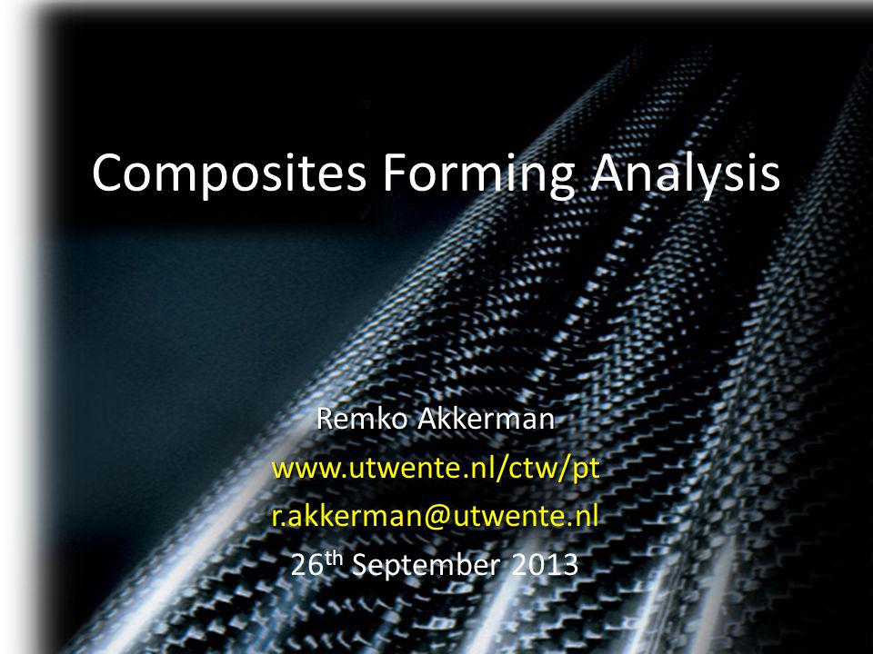 Composites Forming Analysis