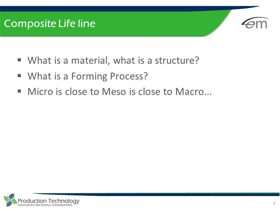 Composite Life line What is a material, what is a structure.