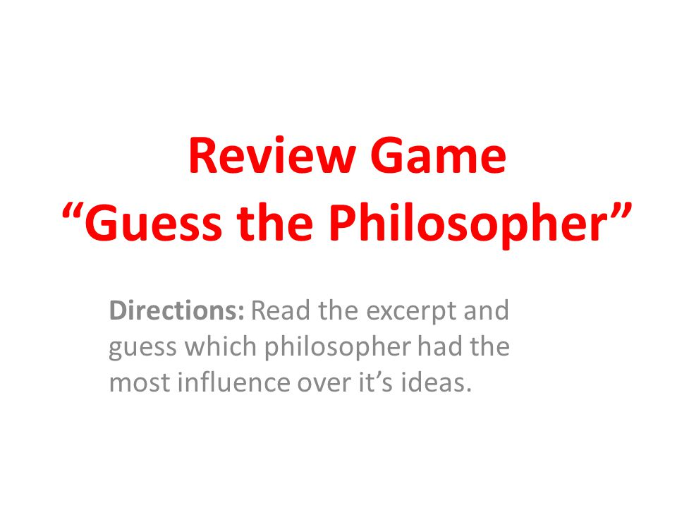 Review Game Guess the Philosopher