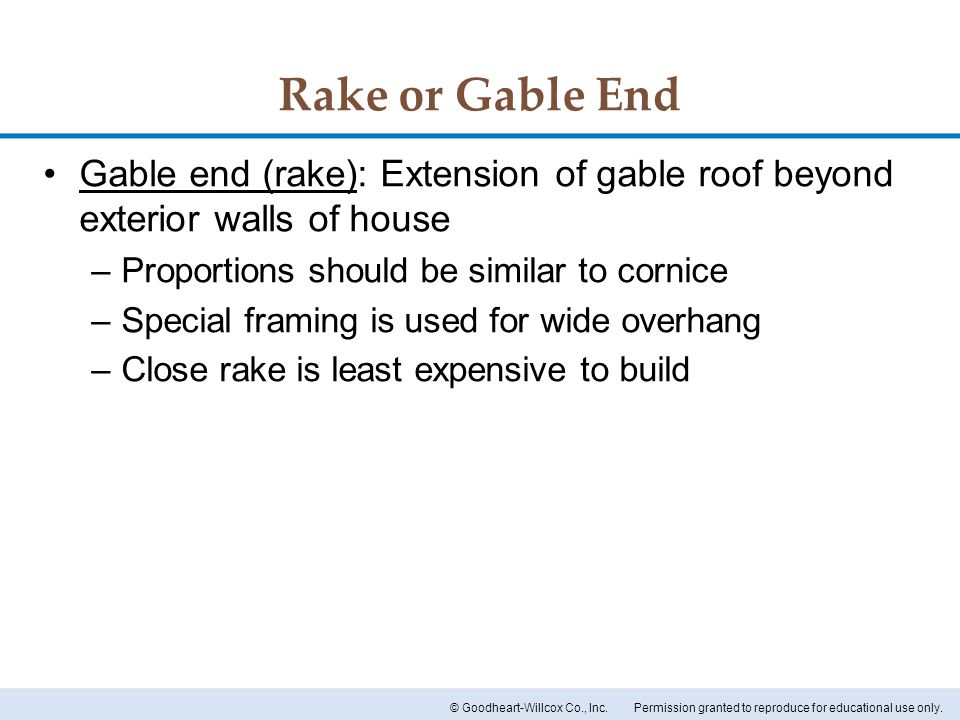 Chapter 16 roof designs chapter 16 roof designs ppt for Least expensive way to build a house
