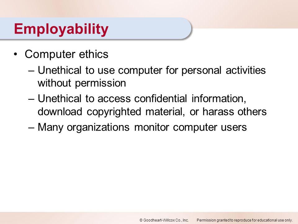 Employability Computer ethics