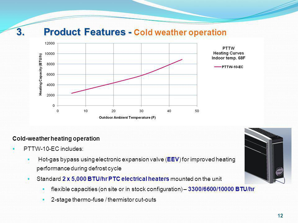 3. Product Features - Cold weather operation