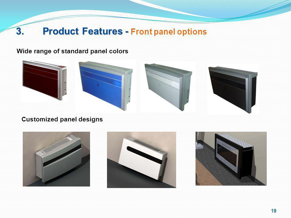 3. Product Features - Front panel options