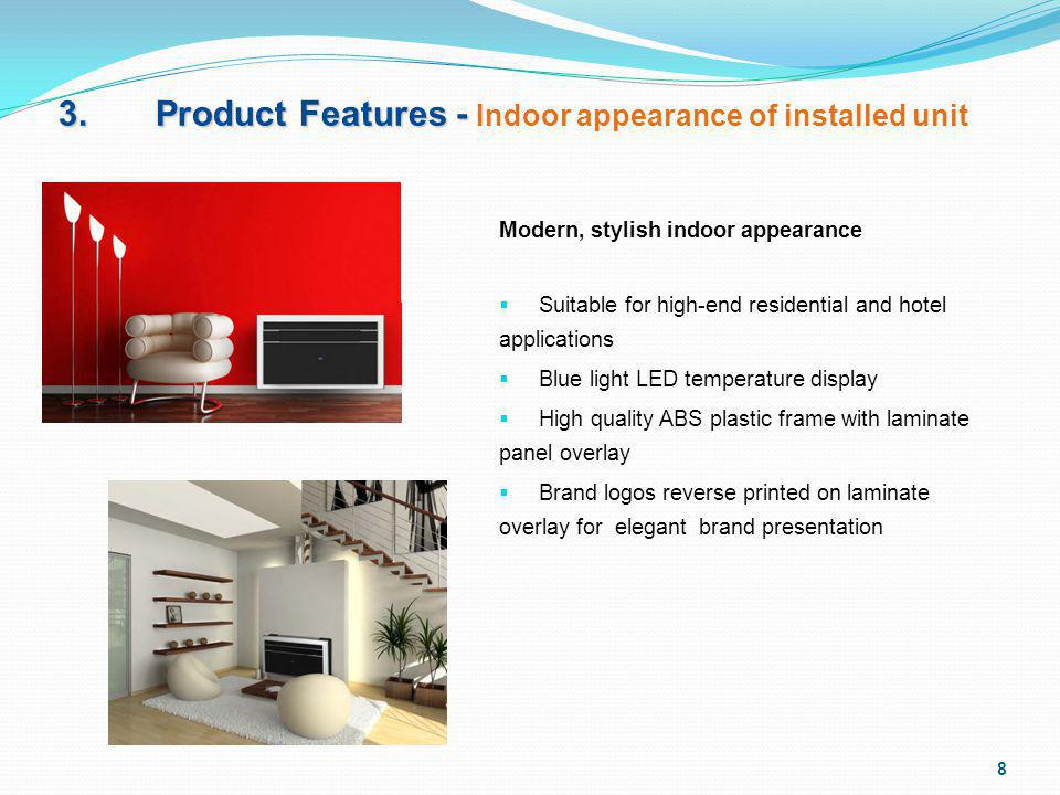 3. Product Features - Indoor appearance of installed unit