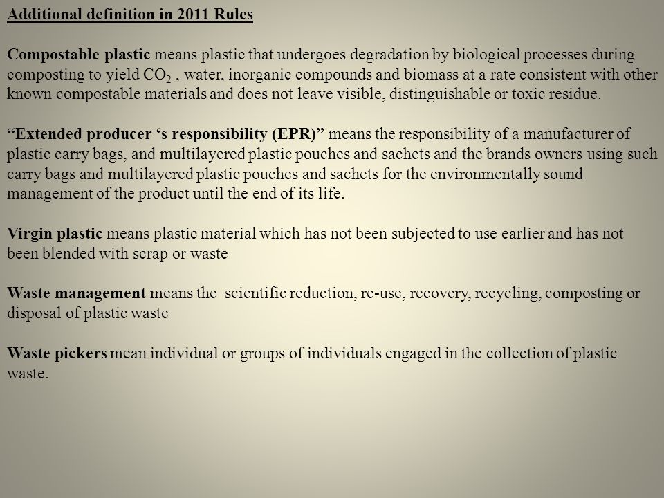 Additional definition in 2011 Rules