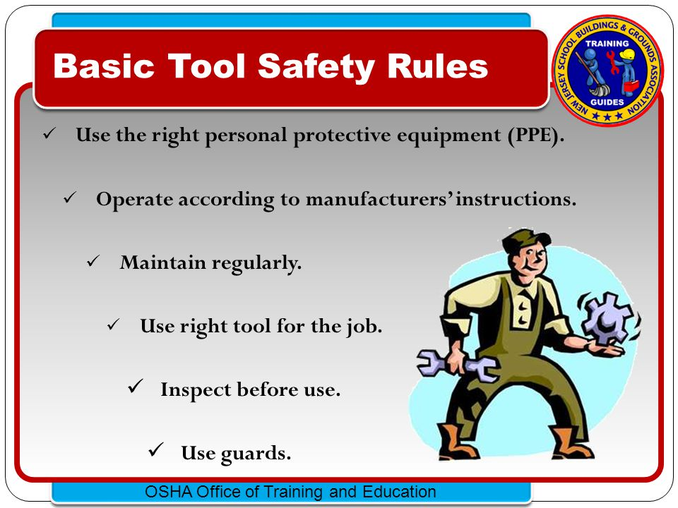 Basic Tool Safety Rules