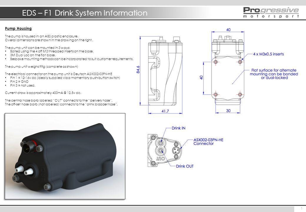 EDS – F1 Drink System Information