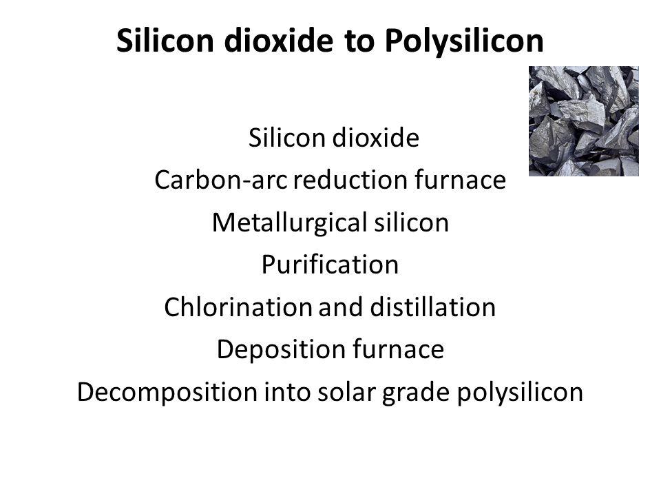 Silicon dioxide to Polysilicon