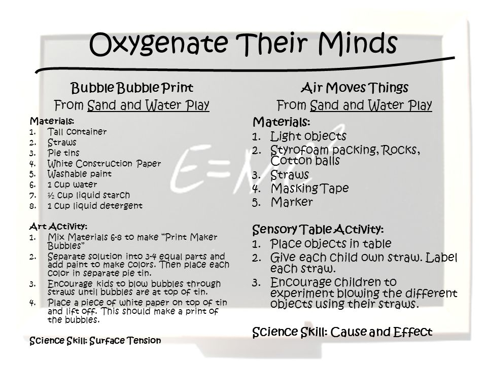 Oxygenate Their Minds Bubble Bubble Print From Sand and Water Play