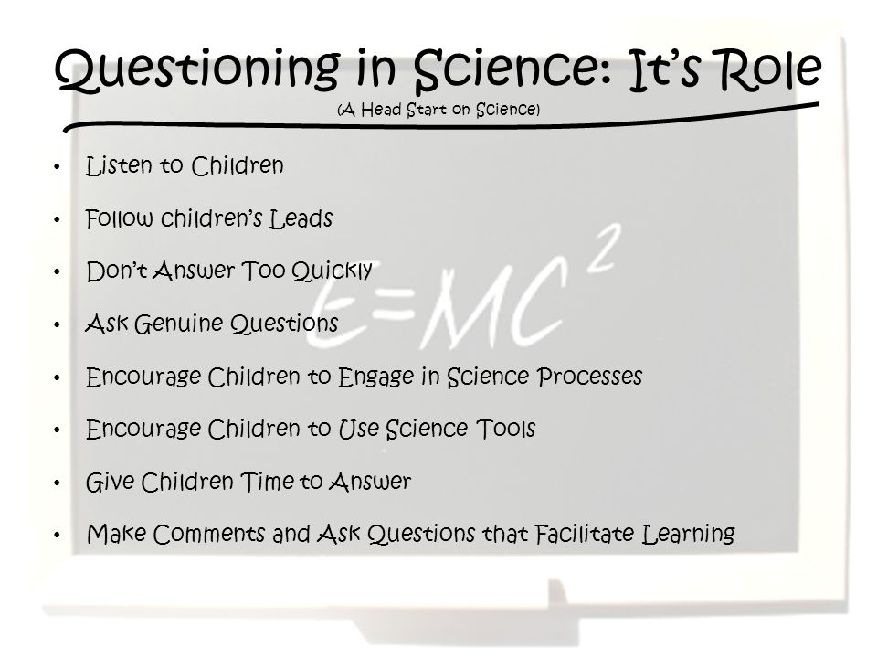 Questioning in Science: It's Role (A Head Start on Science)