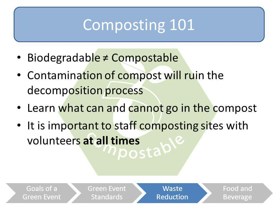 Composting 101 Biodegradable ≠ Compostable