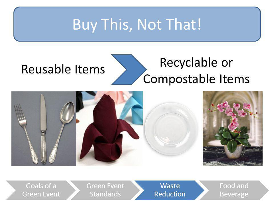 Recyclable or Compostable Items