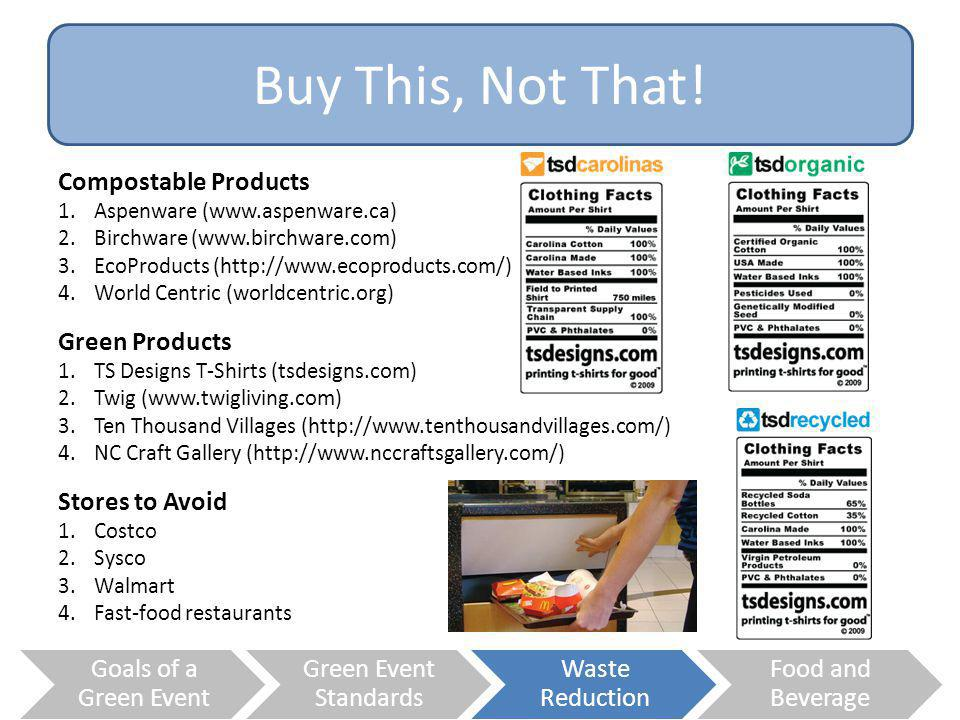 Buy This, Not That! Compostable Products Green Products