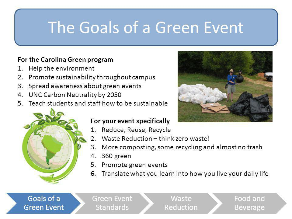 The Goals of a Green Event