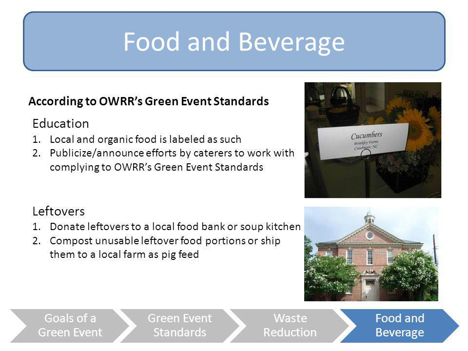 Food and Beverage Education Leftovers