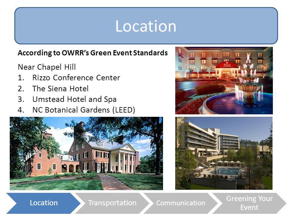 Location Near Chapel Hill Rizzo Conference Center The Siena Hotel