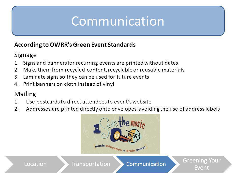 Communication Signage Mailing