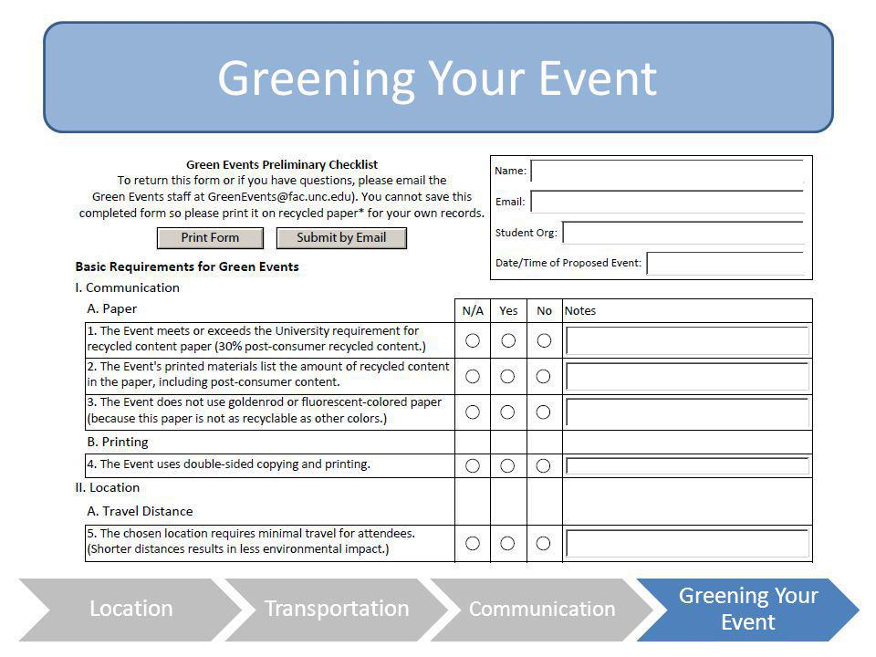 Greening Your Event Location Transportation Greening Your Event