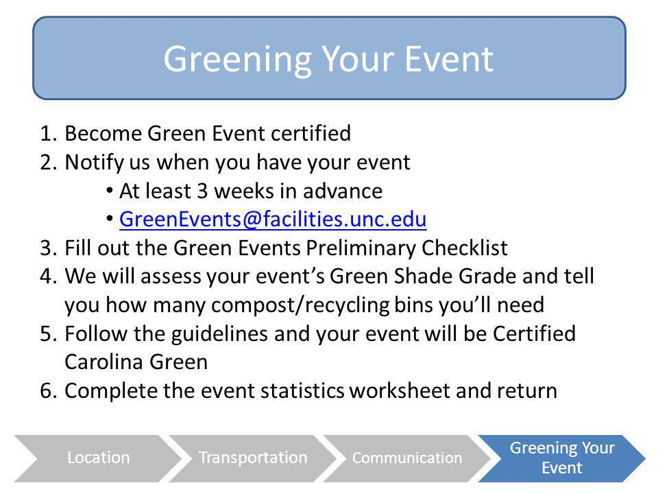 Greening Your Event Become Green Event certified
