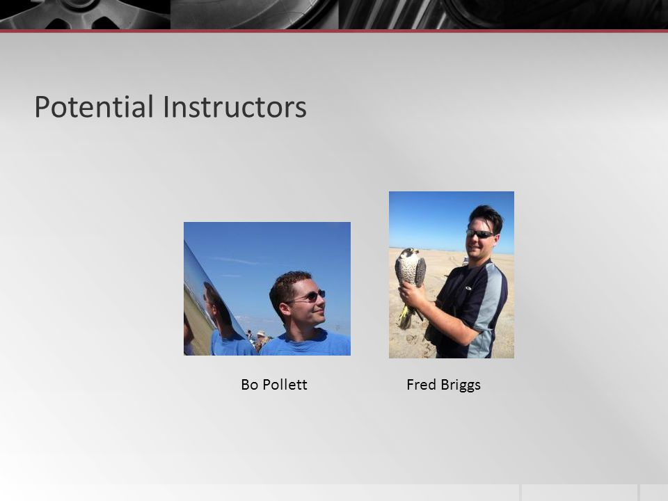 Potential Instructors