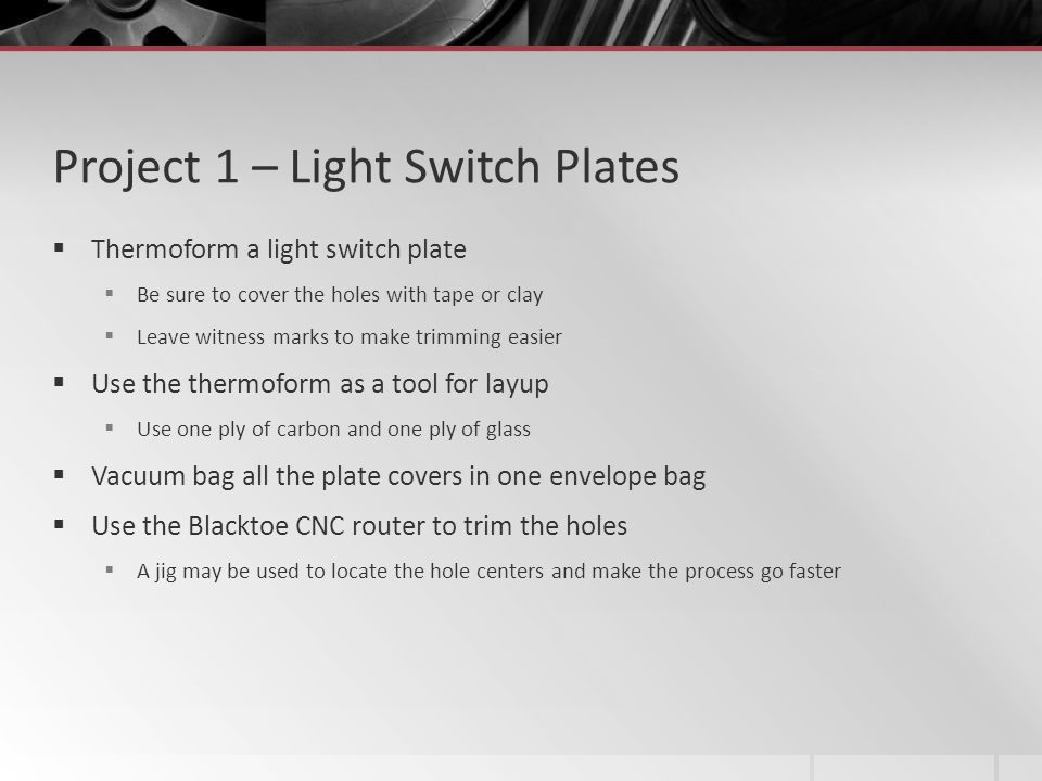 Project 1 – Light Switch Plates