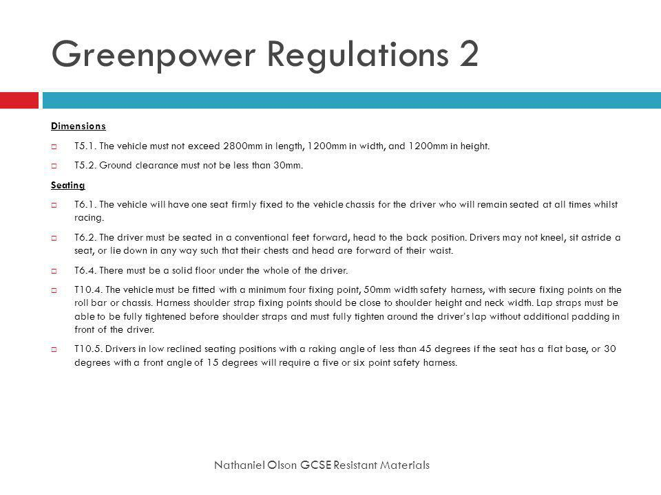 Greenpower Regulations 2