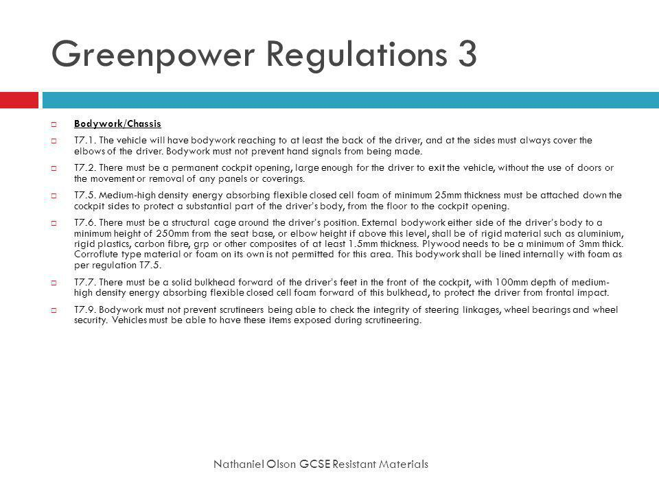 Greenpower Regulations 3