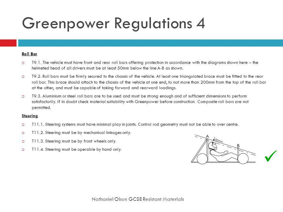 Greenpower Regulations 4