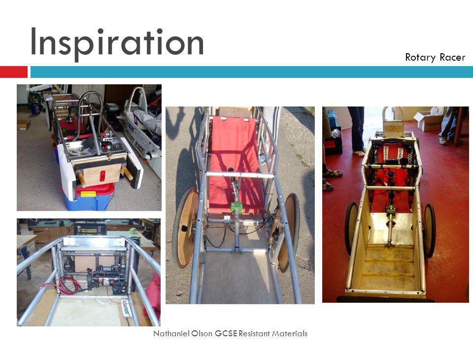 Inspiration Rotary Racer Nathaniel Olson GCSE Resistant Materials