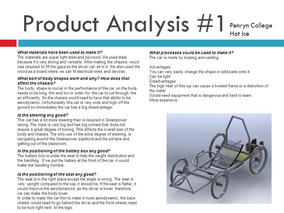 Product Analysis #1 Penryn College Hot Ice