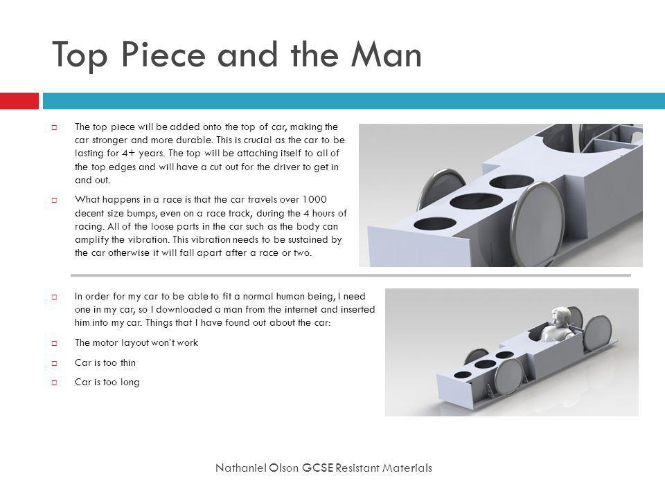 Top Piece and the Man Nathaniel Olson GCSE Resistant Materials